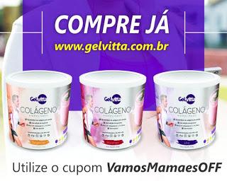 Cupom de desconto Gelvitta - Blog Vamos Mamaes